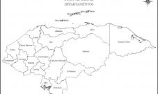 Mapa de Honduras para colorear