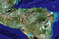 Mapa satelital de Honduras