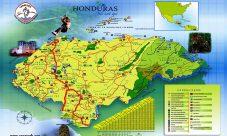 Mapa turístico de Honduras