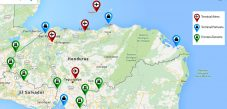 Mapa de aduanas terrestres de Honduras