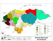 Mapa de Honduras y sus municipios