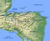Mapa físico de Honduras