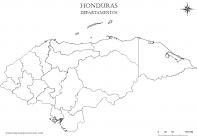 Mapa mudo de Honduras