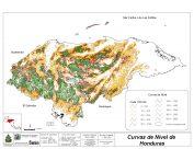 Mapa orográfico de Honduras