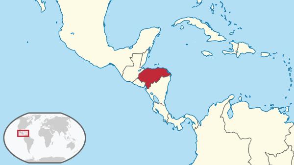 Mapa de ubicación geográfica de Honduras
