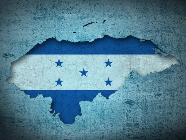 Imágenes del mapa de Honduras con su bandera