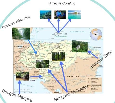 Mapa de ecosistemas de Honduras