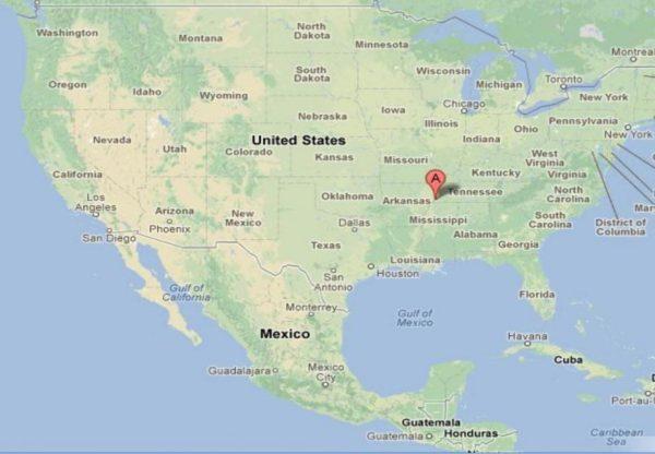 Mapa de Honduras a Estados Unidos