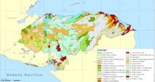 Mapa de Honduras con sus cultivos