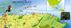Mapa de playas de Honduras