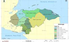 Mapa de regiones de Honduras