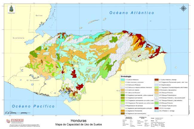 Mapa de suelos de Honduras
