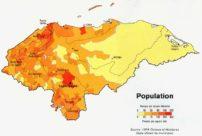 Mapa demográfico de Honduras