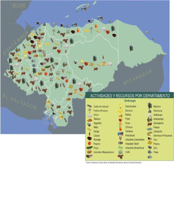 Mapa agrícola de Honduras