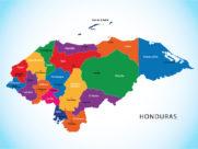 Mapa de Honduras con sus cabeceras