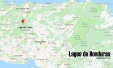 Mapa de lagos de Honduras