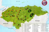 Mapa de los valles de Honduras